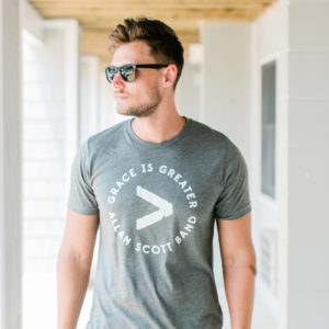 """Grace is Greater"" Grey Unisex T-Shirt"