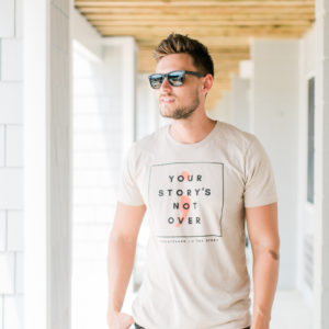 """Your Story's Not Over"" Cream Unisex T-Shirt"